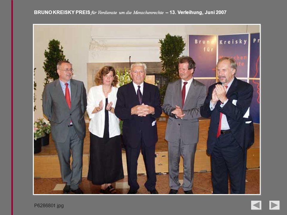 BRUNO KREISKY PREIS für Verdienste um die Menschenrechte – 13. Verleihung, Juni 2007 P6286801.jpg