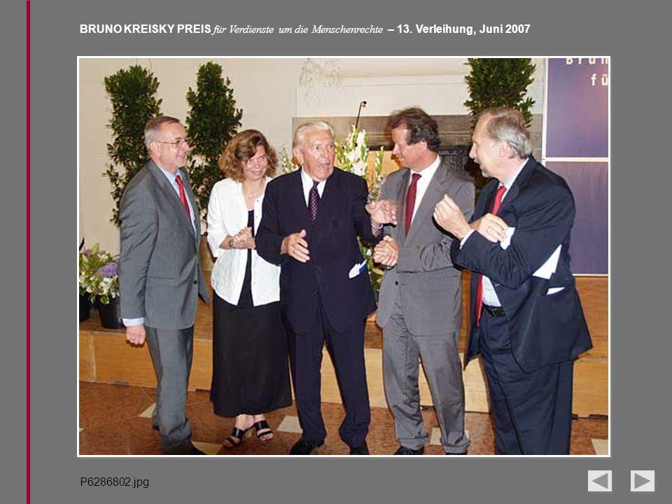 BRUNO KREISKY PREIS für Verdienste um die Menschenrechte – 13. Verleihung, Juni 2007 P6286802.jpg