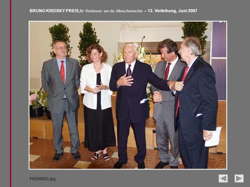 BRUNO KREISKY PREIS für Verdienste um die Menschenrechte – 13. Verleihung, Juni 2007 P6286803.jpg