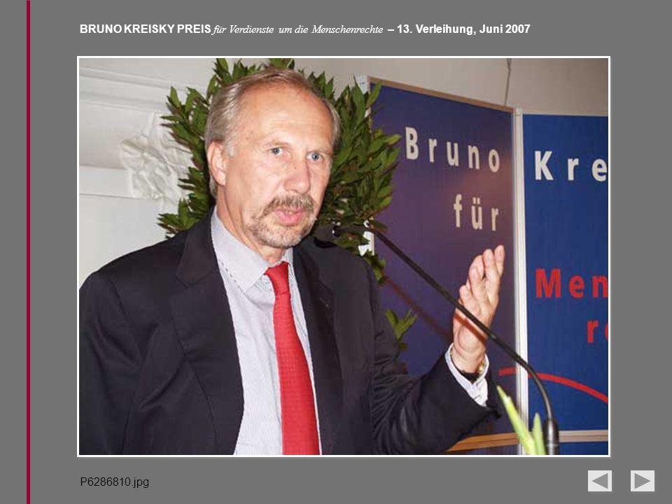 BRUNO KREISKY PREIS für Verdienste um die Menschenrechte – 13. Verleihung, Juni 2007 P6286810.jpg