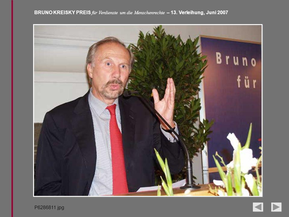BRUNO KREISKY PREIS für Verdienste um die Menschenrechte – 13. Verleihung, Juni 2007 P6286811.jpg