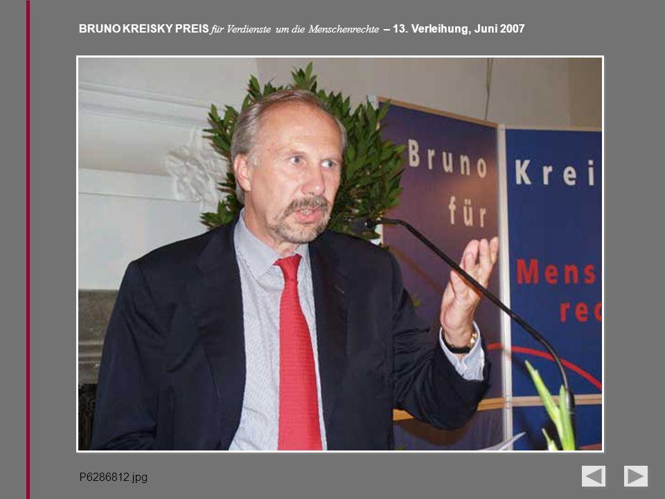 BRUNO KREISKY PREIS für Verdienste um die Menschenrechte – 13. Verleihung, Juni 2007 P6286812.jpg