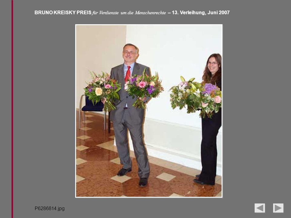BRUNO KREISKY PREIS für Verdienste um die Menschenrechte – 13. Verleihung, Juni 2007 P6286814.jpg
