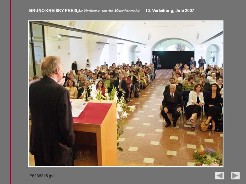 BRUNO KREISKY PREIS für Verdienste um die Menschenrechte – 13. Verleihung, Juni 2007 P6286815.jpg
