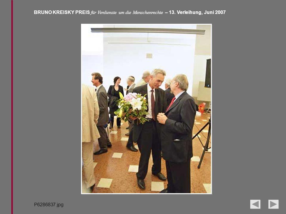 BRUNO KREISKY PREIS für Verdienste um die Menschenrechte – 13. Verleihung, Juni 2007 P6286837.jpg