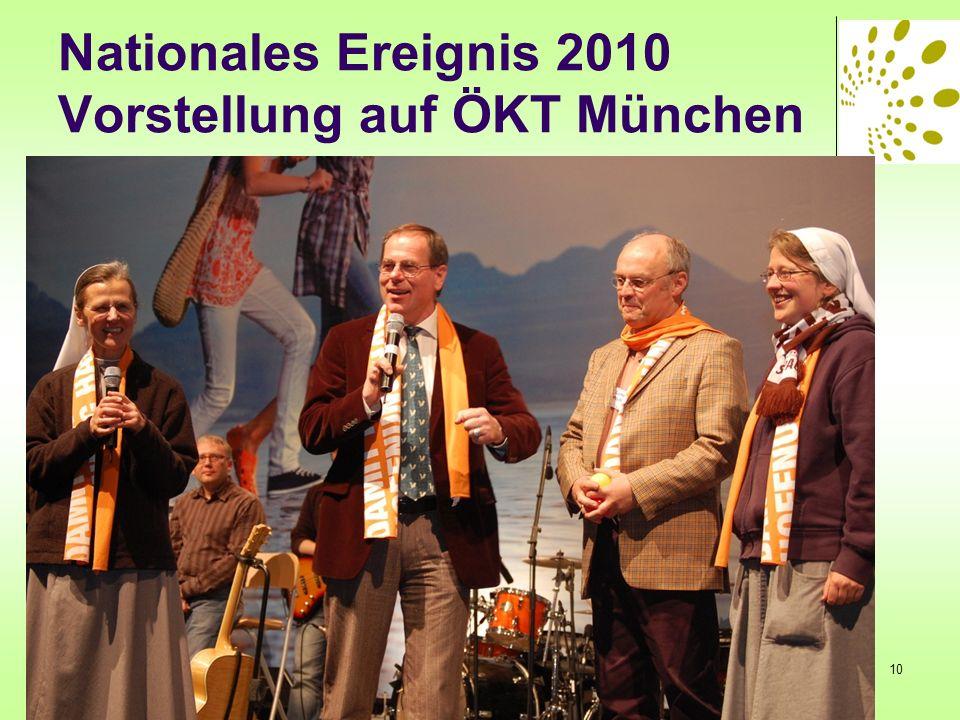 Nationales Ereignis 2010 Vorstellung auf ÖKT München 10