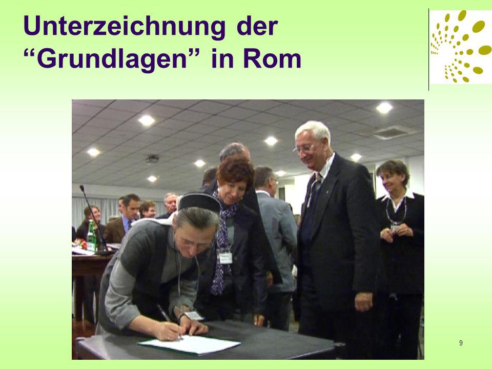 Unterzeichnung der Grundlagen in Rom 9