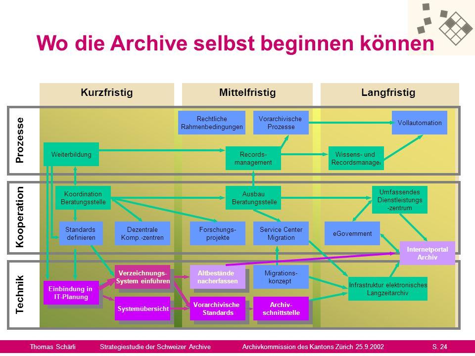 Synthese Thomas SchärliStrategiestudie der Schweizer ArchiveArchivkommission des Kantons Zürich 25.9.2002S.