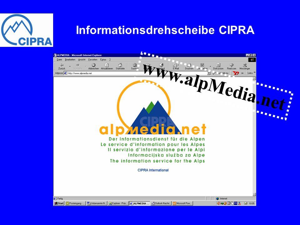 www.alpMedia.net Informationsdrehscheibe CIPRA