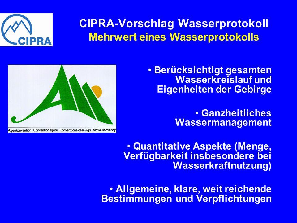 Berücksichtigt gesamten Wasserkreislauf und Eigenheiten der Gebirge Ganzheitliches Wassermanagement Quantitative Aspekte (Menge, Verfügbarkeit insbeso
