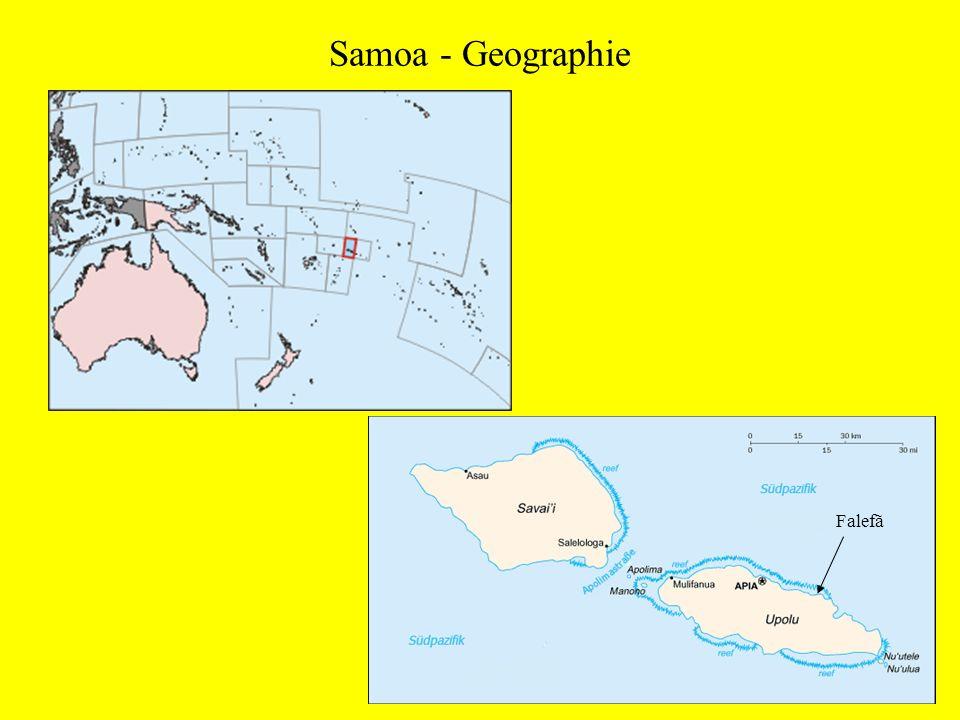Samoa - Geschichte intensive Handelsbeziehungen mit Fiji und Tonga seit 1200 n.