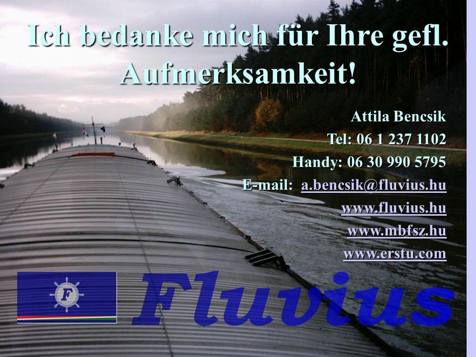 Ich bedanke mich für Ihre gefl. Aufmerksamkeit! Attila Bencsik Attila Bencsik Tel: 06 1 237 1102 Handy: 06 30 990 5795 Handy: 06 30 990 5795 E-mail: a