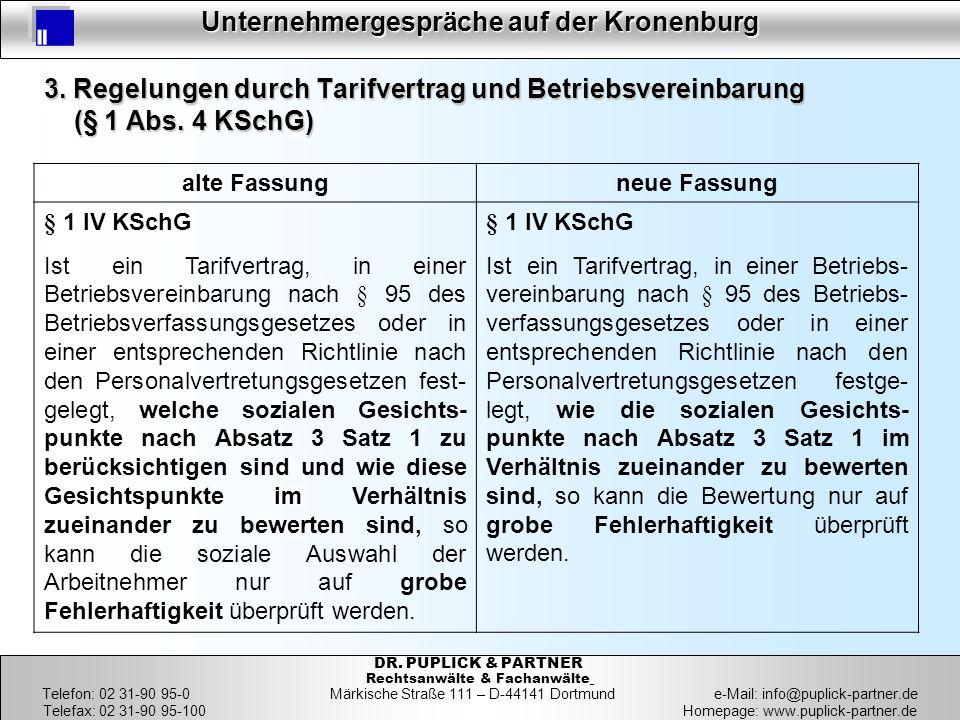 22 Unternehmergespräche auf der Kronenburg 22 DR. PUPLICK & PARTNER Rechtsanwälte & Fachanwälte Telefon: 02 31-90 95-0 Märkische Straße 111 – D-44141