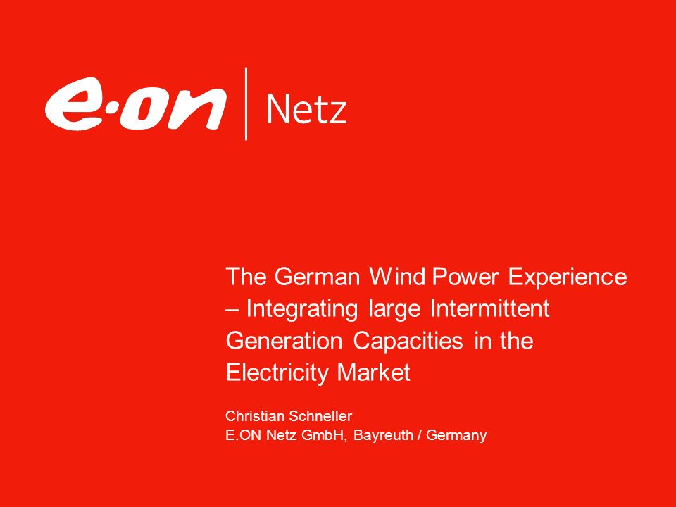 Seite 2Wind Power Integration Christian Schneller, E.ON Netz GmbH Facts & Figures Operational Challenges Economic & Legal Challenges Conclusions Agenda