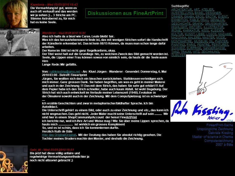 1704 FineartPrint-Sache Ursprüngliche Zeichnung Gabriela Kissling Master of science in Chemie Computerzeichnung 2007 à Bâle Kapelonia - Wed 05/05/2010