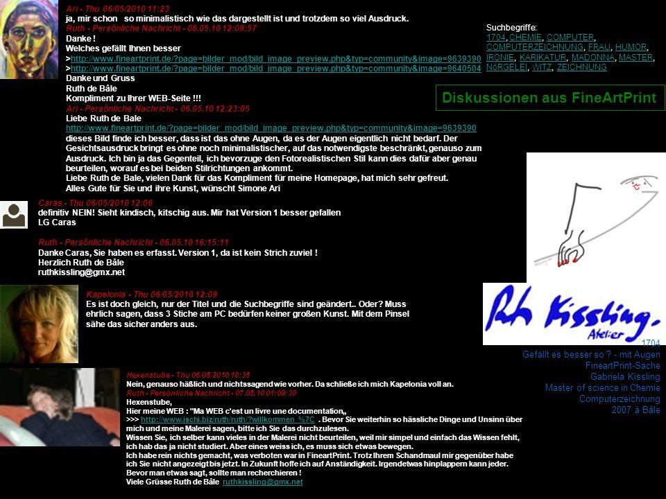 1704 Gefällt es besser so ? - mit Augen FineartPrint-Sache Gabriela Kissling Master of science in Chemie Computerzeichnung 2007 à Bâle Ari - Thu 06/05