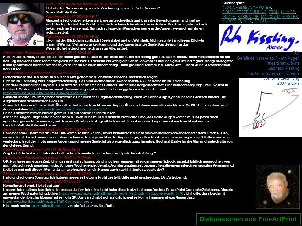 1704 Gefällt es besser so ? - mit Augen FineartPrint-Sache Gabriela Kissling Master of science in Chemie Computerzeichnung 2007 à Bâle Ruth - Persönli
