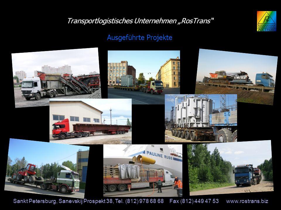 Transportlogistisches Unternehmen RosTrans Transportlogistisches Unternehmen RosTrans Ausgeführte Projekte Sankt Petersburg, Sanevskij Prospekt 38, Te