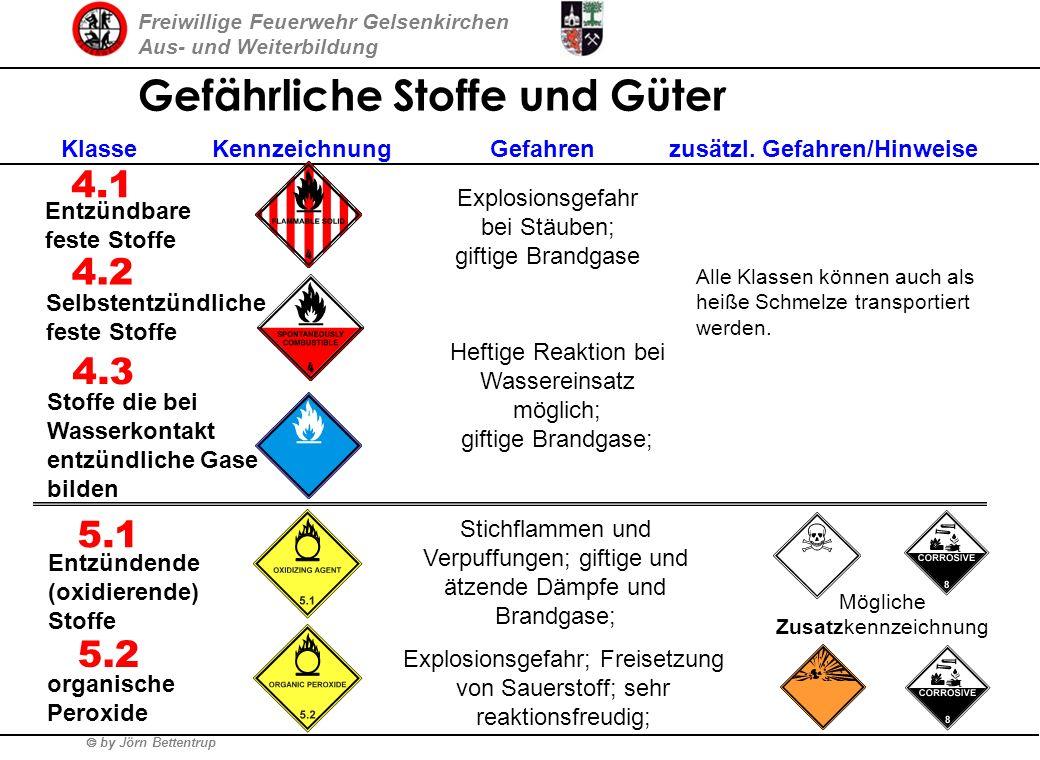 Freiwillige Feuerwehr Gelsenkirchen Aus- und Weiterbildung by Jörn Bettentrup Gefährliche Stoffe und Güter 1 2 3 Klasse Kennzeichnung Gefahren zusätzl