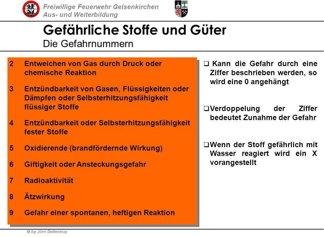 Freiwillige Feuerwehr Gelsenkirchen Aus- und Weiterbildung by Jörn Bettentrup Gefährliche Stoffe und Güter Transportkennzeichnung nach GGVS/ADR Gefahr