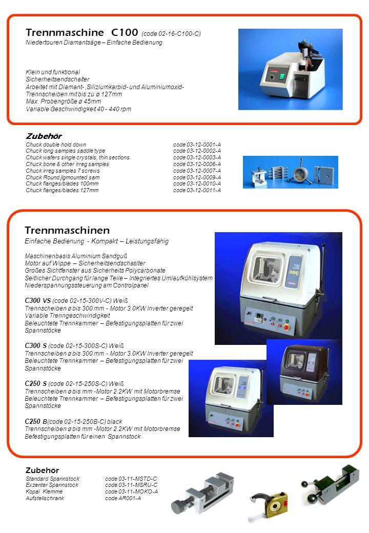 Trennmaschine C100 (code 02-16-C100-C) Niedertouren Diamantsäge – Einfache Bedienung Klein und funktional Sicherheitsendschalter Arbeitet mit Diamant-