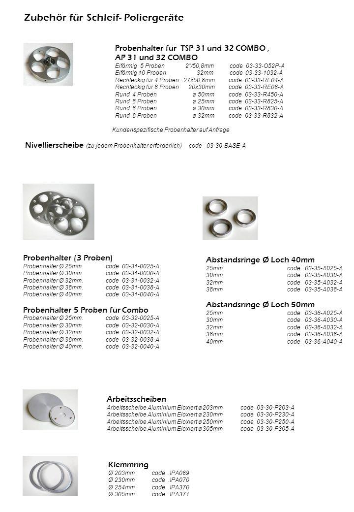 Abstandsringe Ø Loch 40mm 25mm code 03-35-A025-A 30mm code 03-35-A030-A 32mm code 03-35-A032-A 38mm code 03-35-A038-A Abstandsringe Ø Loch 50mm 25mm c