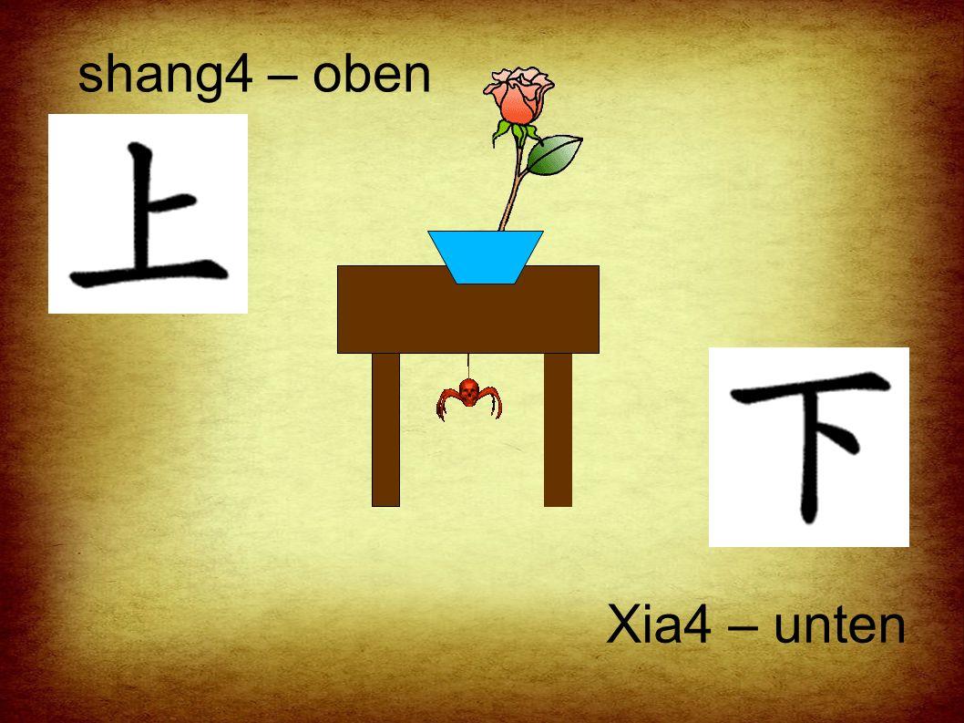 shang4 – oben Xia4 – unten