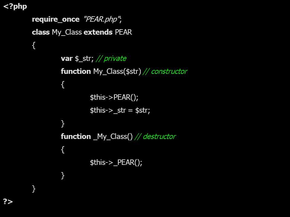 16.11.2005Marco Behnke - PEAR22 Eigene Klasse in PEAR <?php require_once