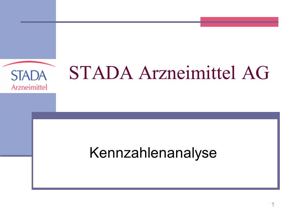 2 STADA Arzneimittel AG STADA wurde im Jahre 1895 als Apothekergesellschaft gegründet und 1970 zur Aktiengesellschaft.