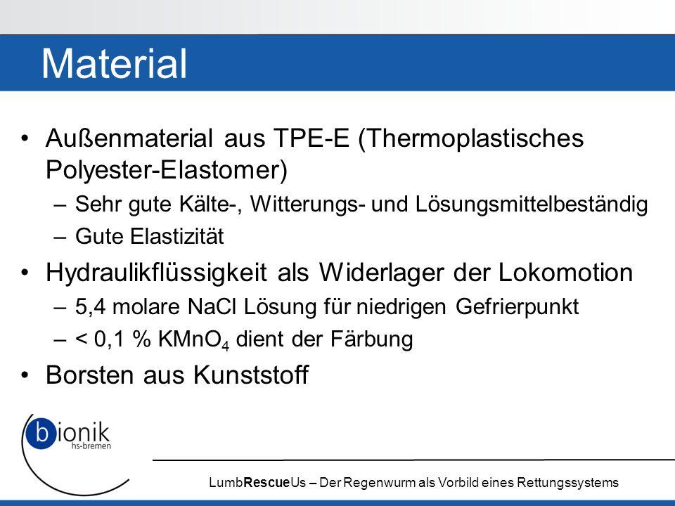 LumbRescueUs – Der Regenwurm als Vorbild eines Rettungssystems Material Außenmaterial aus TPE-E (Thermoplastisches Polyester-Elastomer) –Sehr gute Käl