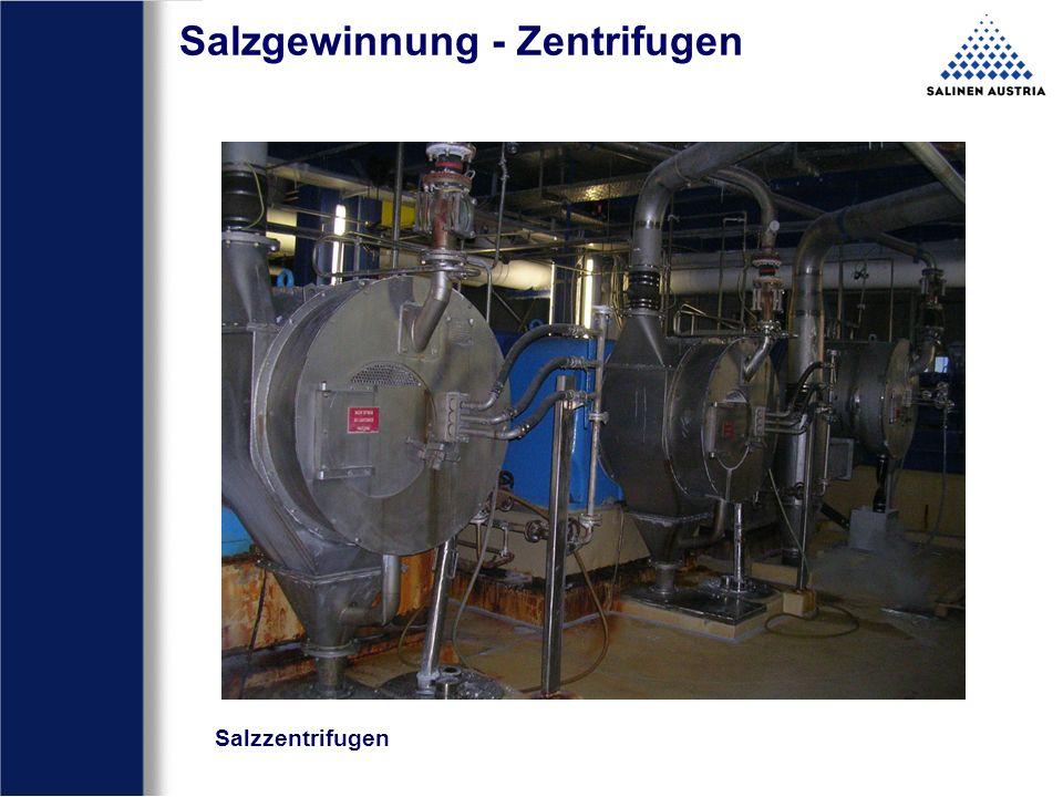 Salzgewinnung - Zentrifugen Salzzentrifugen