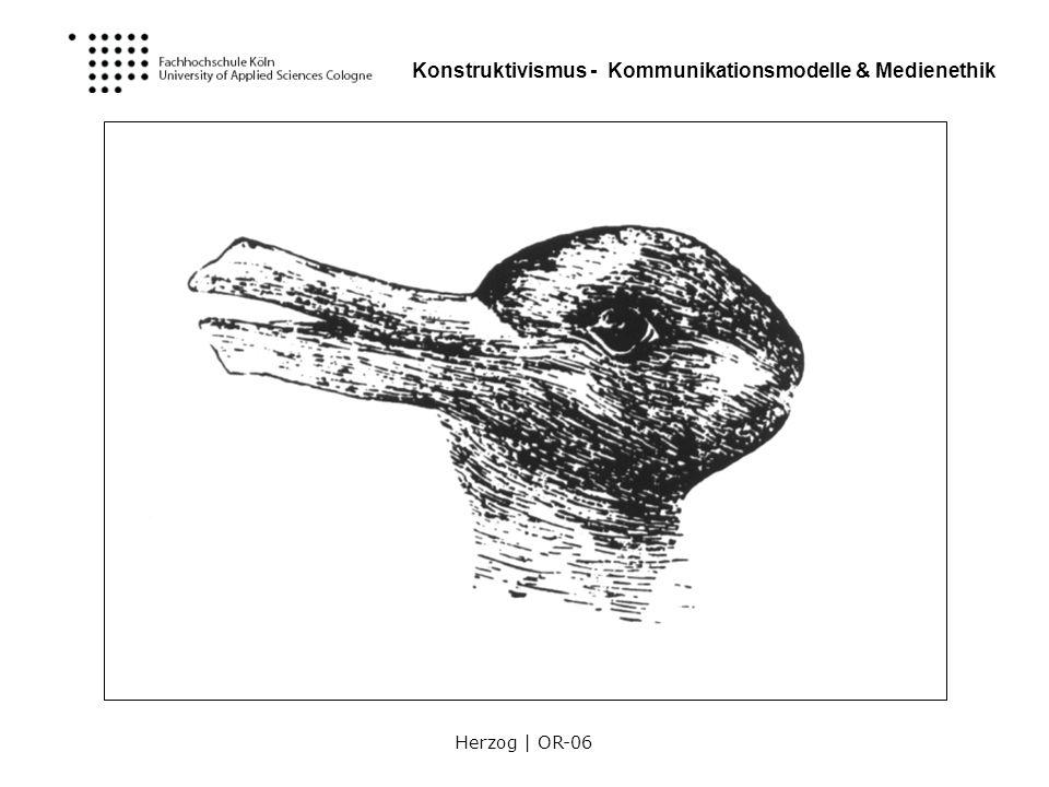Herzog | OR-06 Konstruktivismus - Kommunikationsmodelle & Medienethik Erkennen der System-Umwelt-Differenz Systeme erzeugen sich selber ihre Ordnung.