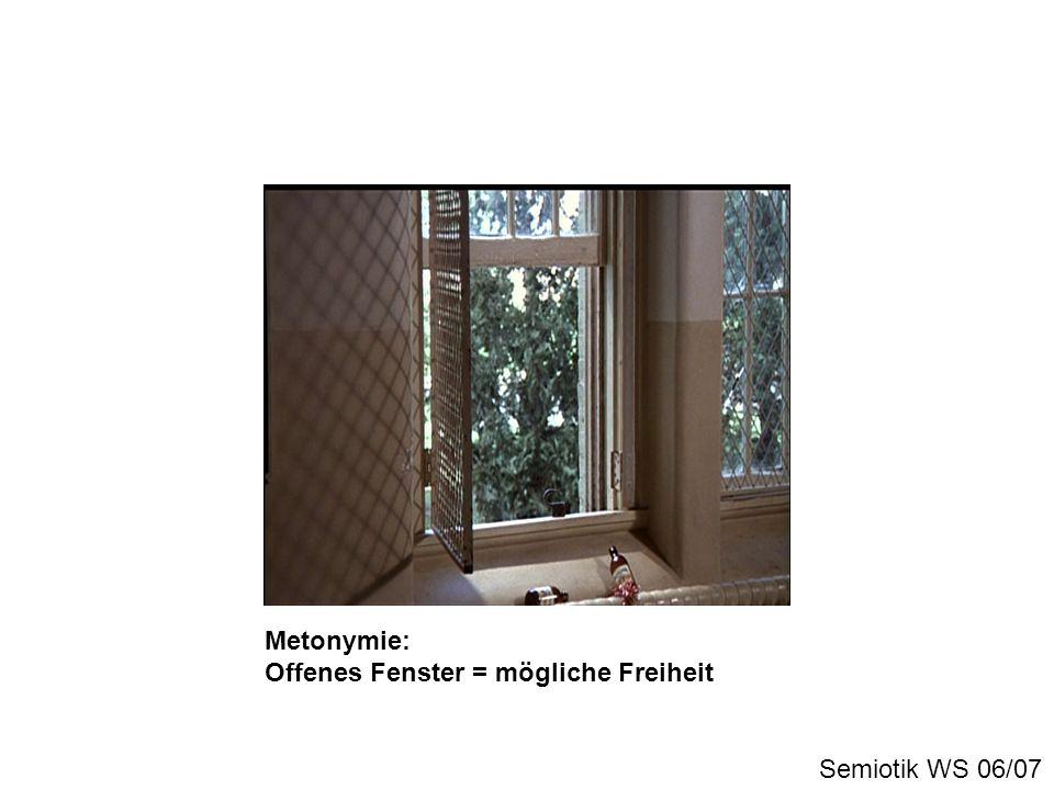 Metonymie: Offenes Fenster = mögliche Freiheit Semiotik WS 06/07