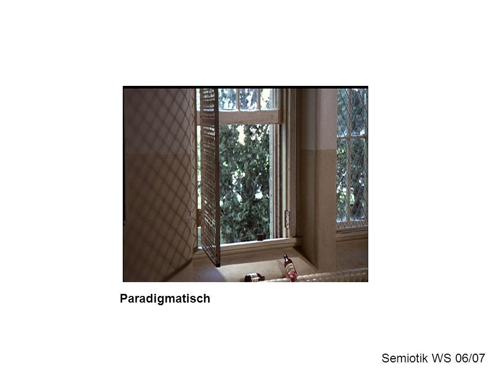 Paradigmatisch Semiotik WS 06/07