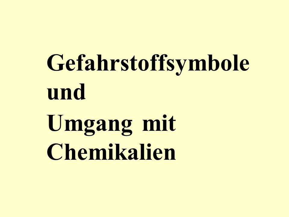 Gefahrstoffsymbole und Umgang mit Chemikalien