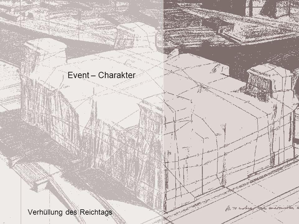 r Event – Charakter Verhüllung des Reichtags