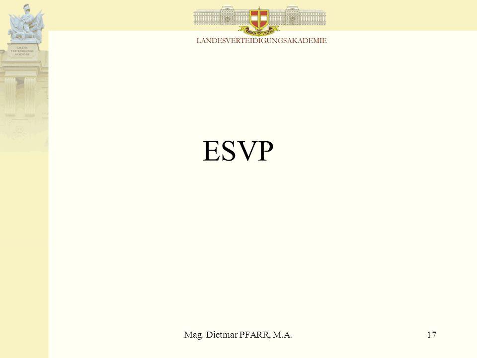Mag. Dietmar PFARR, M.A.17 ESVP