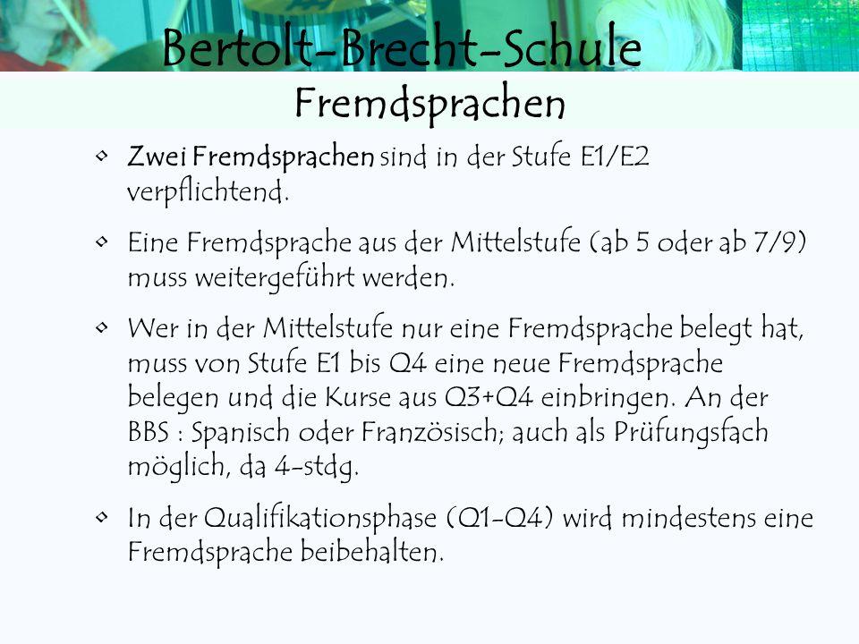 Bertolt-Brecht-Schule NotenpunkteNotendefinitionNote 151413 Die Leistungen entsprechen den Anforderungen in besonderem Maße 1 121110 Die Leistungen en