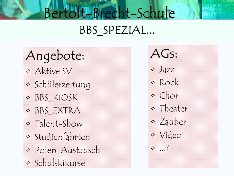 Bertolt-Brecht-Schule Stundenplan Beispiel ZeitStundeMontagDienstagMittwochDonnerstagFreitag 08.00 09.30 1 - 2 Deutsch Englisch Mathematik Englisch Me
