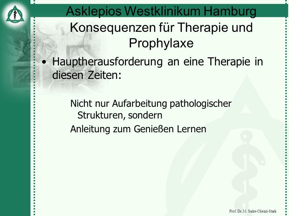 Asklepios Westklinikum Hamburg Prof. Dr. M. Sadre-Chirazi-Stark Konsequenzen für Therapie und Prophylaxe Hauptherausforderung an eine Therapie in dies