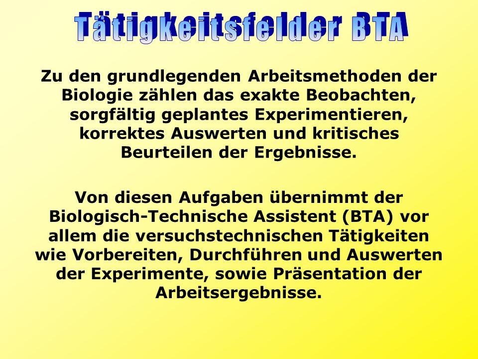Zu den grundlegenden Arbeitsmethoden der Biologie zählen das exakte Beobachten, sorgfältig geplantes Experimentieren, korrektes Auswerten und kritisch