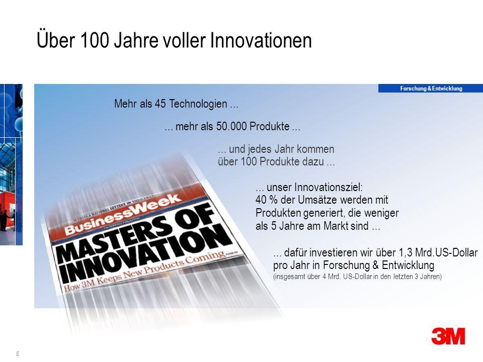 6 Über 100 Jahre voller Innovationen Forschung & Entwicklung...