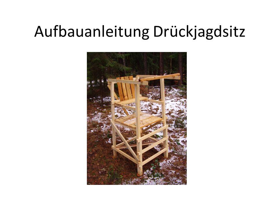 Aufbauanleitung Drückjagdsitz