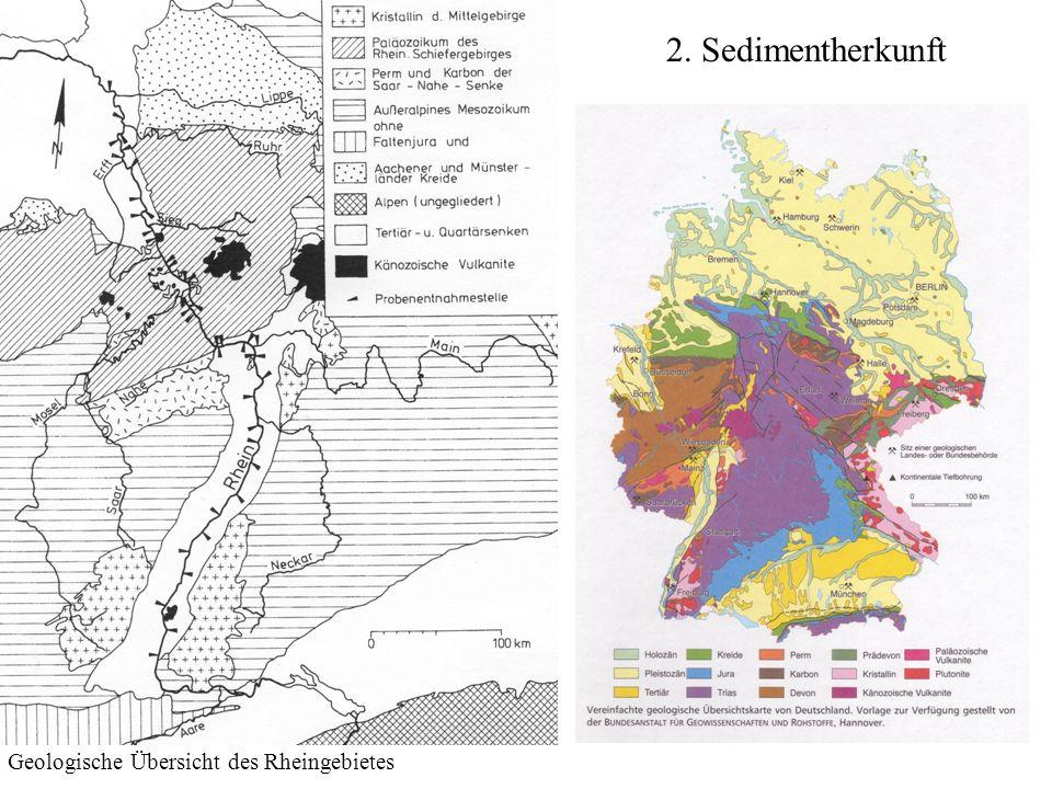 2. Sedimentherkunft Geologische Übersicht des Rheingebietes