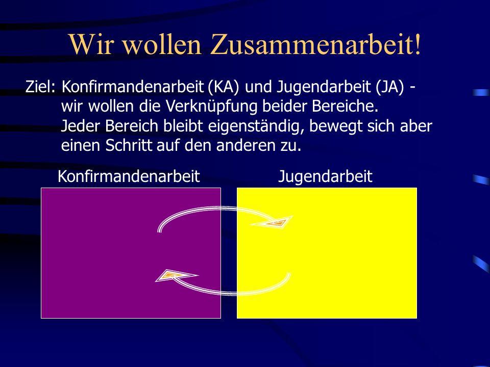 Zusammenarbeit KA-JA Ziel: Jeder Bereich bleibt eigenständig, bewegt sich aber einen Schritt auf den anderen zu und profitiert vom anderen.