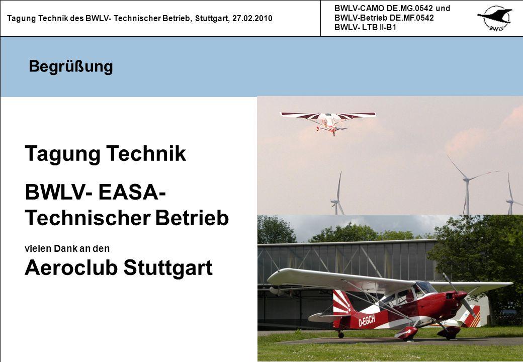 12 Tagung Technik des BWLV- Technischer Betrieb, Stuttgart, 27.02.2010 BWLV-CAMO DE.MG.0542 und BWLV-Betrieb DE.MF.0542 BWLV- LTB II-B1 12 (Neue) Formulare (3) Zu jeder Lufttüchtigkeitsprüfung gehört die Übersicht der Freigabebescheinigungen Einzutragen sind: - Muster - Werk-Nr.