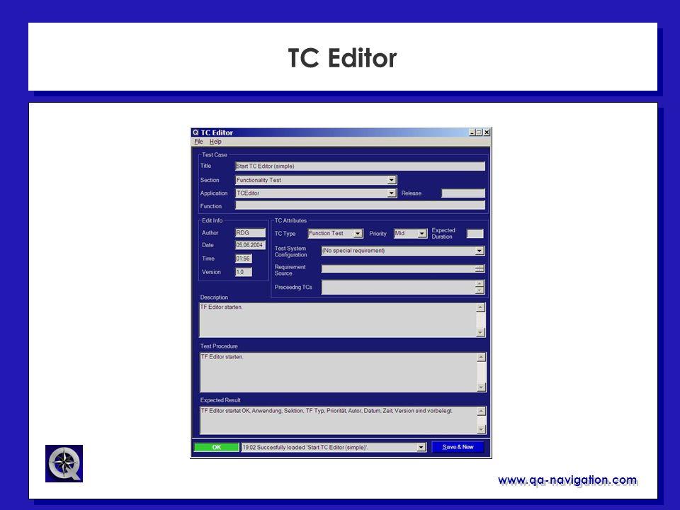 www.qa-navigation.com TC Editor