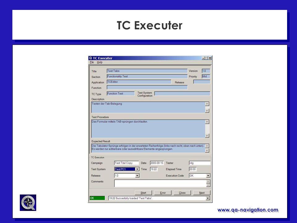 www.qa-navigation.com TC Executer