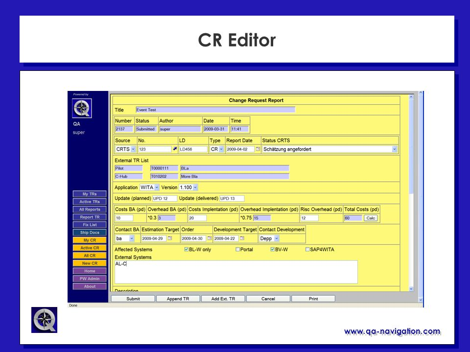 www.qa-navigation.com CR Editor