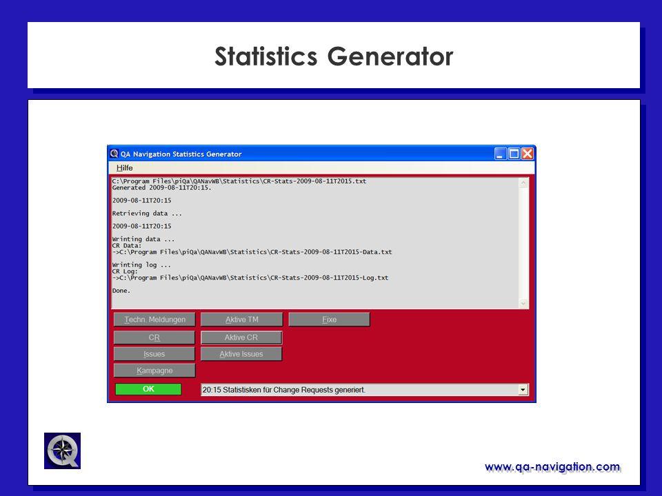 www.qa-navigation.com Statistics Generator